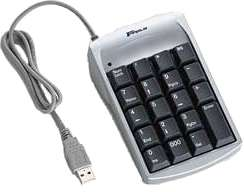 Targus PAUK10U 19key Usb Black Ultra Mini Keypad 2port Usb Hub Windows 092636205546 - Image of item from www.ichq.com