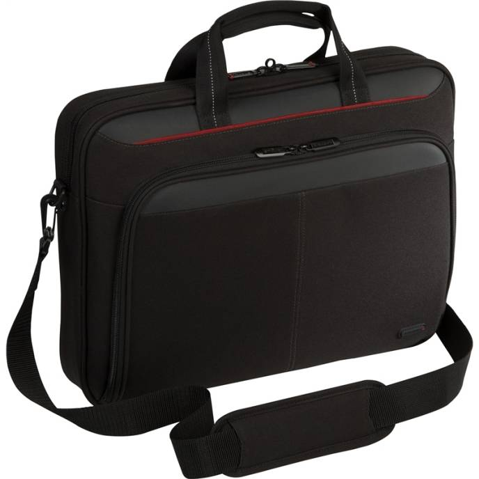 Targus TCT027US Classic Topload Case Blk Polyester Fits Up 16in 092636265052 - Image of item from www.ichq.com